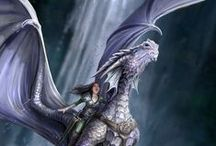monde fantasy dragon / dragons