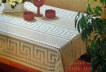 вязание для дома скатерти  и салфетки