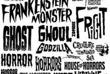 Horror Typography