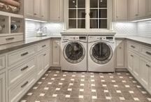 Laundry Rooms / In my dream home I have a beautifully organized laundry room where I could wash, iron & fold to my hearts content <3