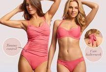 Antibes by Change Lingerie / Krásné plavky Antibes v letně korálové barvě #plavky #bikini