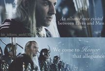Elves. / Legolas and Haldir *swoons* elves are the most beautiful creatures in all of middle-earth..