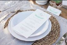 En la mesa / decoración de mesas con encanto