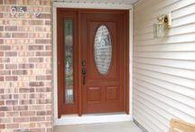 Front Door Dreams / Replacing your front door can change the look of your whole house.   #doorlove #entrydoor