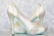 Bling Wedding Shoes / Don't ignore your toes on your wedding day! Incorporate your wedding theme with a sparkly, crystal accented, pair of custom wedding shoes  | Custom designed handmade wedding shoes • Creating the bride's dream wedding shoe with bling, lace, flowers, bows, butterflies & more | CustomWeddingShoe.com