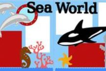 Scrapbook Layouts: Sea World