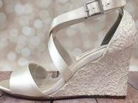 Wonderful Wedding Wedges / Planning a summer wedding and wanting to avoid your heels sinking into the grass? Wedges are one of our favorite base shoes on which to design custom wedding shoes | Custom designed handmade wedding shoes • Creating the bride's dream wedding shoe with bling, lace, flowers, bows, butterflies & more | CustomWeddingShoe.com