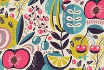 Pretty fabric + prints
