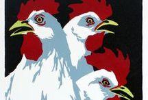 chicken art / by tex norman