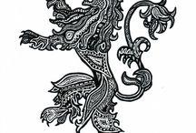 | asoiaf; cersei lannister | / hear me roar. queen regent. cersei of the house lannister.