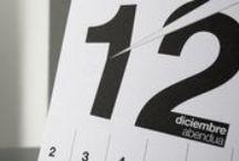 Nuestros calendarios_our calendars / Diseñados cada año con temáticas diferentes. Nuestro propio encargo....  Números, color, calendario, diseño