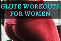 Glute Workouts Women / Amazing glute building workouts and tips, including glute workouts for beginners, glute workouts for women, glute building exercises, exercises for building bigger glutes, glute strengthening exercises, exercises for the glute medius muscle, and glute workouts for runners.