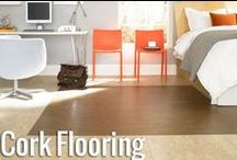 "Cork Flooring / Cork Floors are an excellent, trendy option for beautiful, durable, and eco-friendly ""green"" flooring"