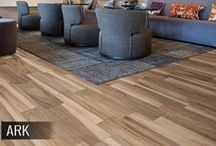 Wood Tile Flooring / The newest popular trend in flooring is wood-look tile. The ease and durability of tile with the look of real hardwood. Get inspired with the best products and most beautiful designs from around the web.