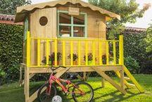 DIY Casa de madera para niños / Hazlo tú mismo, construye la casa de juegos para tus hijos. Puede ser la perfecta casa del árbol que a tus niños les encantará.