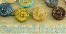 Marine, Snails, Seashells, Shells Beads || Czech Glass Beads || Tutorials, Patterns, Inspirations / Follow this board for more ideas about Czech glass marine, snail, seashell, shell beads! || www.CzechBeadsExclusive.com/+marine