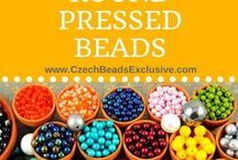 Round Druk Pressed Czech Glass Beads / Czech glass round druk pressed beads are the most used in every beaded jewelry project! Follow this board for more Czech round bead designs.  || www.CzechBeadsExclusive.com/+round