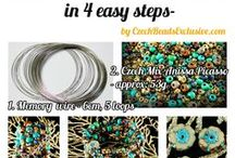 Free Beading Tutorials And Patterns / If you like bead making and handmade beaded jewelry making - this board is exactly for you! Follow this board for free beading tutorials and patterns and SAVE the most interesting jewelry making ideas from Czech glass beads.  || www.CzechBedasExclusive.com