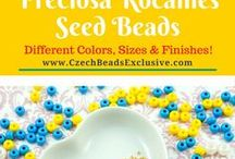 Seed Czech Glass Beads: Tutorials, Patterns, Inspirations / Do you enjoy beading with Czech glass seed beads? Follow this board for more Czech seed bead designs, also for free seed bead tutorials, patterns and inspirations! || www.CzechBeadsExclusive.com/+seed