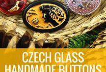 Buttons Czech Glass - Free Patterns, Tutorials, Designs / Czech Glass Buttons www.CzechBeadsExclusive.com/xx/+button