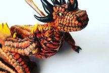HannahunArt Creations / Polymer clay dragons, fantasy animals.  https://www.etsy.com/shop/HannArtSculpture