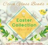 Easter Czech Glass Beads: Tutorials, Patterns, Inspirations / Find all Czech glass Easter beads fro your projects: www.czechbeadsexclusive.com/+easter