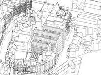 1994 - Edinburgh's Central Library Extension / Ampliamento, ristrutturazione e rifunzionalizzazione della Biblioteca centrale e rigenerazione complessiva dell'area di Cowgatehead