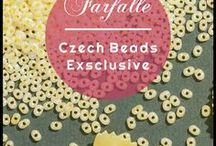 "Farfalle Czech Glass Beads | Patterns, Tutorials, Inspiraton / www.CzechBeadsExclusive.com/+farfalle ● We are very happy to show you our collection of Czech glass Farfalle beads. These airy glass beads are named after the Italian word for a butterfly, ""farfalle"" is also a highly popular shape for pasta, also known as bow tie pasta."