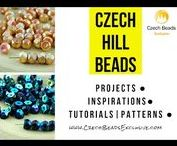 Hill Czech Glass Beads: Patterns, Tutorials, Inspiration / If you like the royal shine of Czech glass Faceted Fire Polished beads – this novelty is exactly for you! Czech glass Hill beads are round Czech glass Fire Polished beads divided in a half. This bead shape offers you a lot of possibilities how to use them: they can substitute ordinary glass fire polished beads, or can be used in an creative way – for example as caps for mushrooms or acorns or center of a flower || www.czechbeadsexclusive.com/+hill