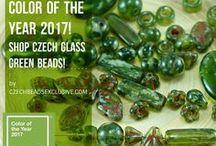 Green Czech Glass Beads / Do you like Czech glass green beads? Follow this board for green beading ideas!  || www.CzechBeadsExclusive.com/+green