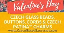 Valentine`s Day Heart Love Czech Glass Beads / Here you can find our beautiful Czech glass Valentine`s Day bead collection. Follow this board for more Valentine`s Day beads! || www.CzechBeadsExclusive.com/+valentine