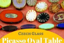 Picasso Table Cut Window Czech Glass Beads: Coin, Oval, Square, Rectangle: Tutorials, Patterns / ||www.CzechBeadsExclusive.com/+table+cut