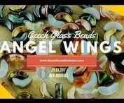 Czech Glass Angel Wings Beads: Tutorials, Patterns, Inspirations / || www.CzechBeadsExclusive.com/+angel