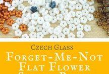 Forget-Me-Not Flower Spacer Czech Glass Beads: Tutorials, Patterns, Inspirations