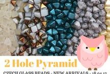 Pyramid 2 Two Hole Czech Glass Beads: Tutorials, Patterns, Inspiration