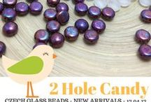 Candy 2 Two Hole Czech Glass Beads: Tutorials, Patterns, Inspirations