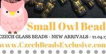 Czech Glass Small Owl Bird Beads: Tutorials, Patterns, Inspirations