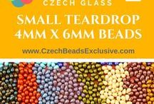 Teardrop Small Czech Glass Beads: Tutorials, Patterns, Inspirations / Delicate and beautiful Czech Glass Small Teardrop Beads are always great idea in any jewelry design. You can use them as cute accents or as main part with other type of beads to get romantic effect. Classic shape makes them useful in any kind of beading. We at CzechBeadsExclusive have chosen for you Czech Glass Small Teardrop Beads in the most beautiful finishes: Metallic finish, Picasso finish, Matte finish, Luster finish and much more. Check these beads right now!