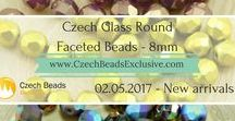 Czech Glass 8mm Round Faceted Fire Polished Beads: Tutorials, Patterns, Inspirations