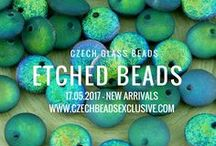 Etched Czech Glass Beads: Tutorials, Patterns, Inspirations / Czech Glass Etched Beads are just perfect for unusual jewelry making projects from trendy and complicated necklaces to minimalistic rings and simple bracelets. You can gladly combine it with another beads and also use them separately. As you already know, it's much easier to get more design variations such an interesting beads.