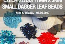 Dagger 11mm x 13mm Small Leaf Czech Glass Beads: Tutorials, Patterns, Inspirations