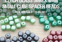 Cube 5mm x 4mm Small Spacer Czech Glass Beads: Tutorials, Patterns, Inspirations