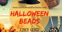 Halloween Czech Glass Beads | Tutorials, Patterns and Beading Ideas / Have you thought about this year's Halloween outfit? Looking to create something unique for the occasion? Halloween Czech Glass Beads are just the thing you need to come up with unique beadwomen jewelry for your Halloween character. The beads you definitely need to get your hands on are Tooth Dagger Fang Orange Halloween beads, Carved Owls, and Large Black Cat Glass beads. Do you feel inspired already?