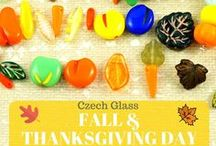 Autumn/Fall Harvest and Thanksgiving Day Czech Glass Beads & Patina Charms / Autumn/Fall Harvest and Thanksgiving Day Czech Glass Beads & Patina Charms