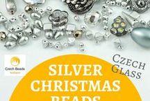 Silver Czech Glass Beads, Cabochons, Buttons, Findinsg / Silver Czech Glass Beads, Cabochons, Buttons, Findinsg