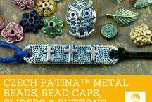 Czech Patina™ Metal Beads, Bead Caps, Sliders & Buttons / Czech Patina™ Metal Beads, Bead Caps, Sliders & Buttons