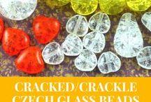 Cracked Crackle Czech Glass Beads - Patterns, Tutorials, Inspirations / Cracked Crackle Czech Glass Beads - Patterns, Tutorials, Inspirations