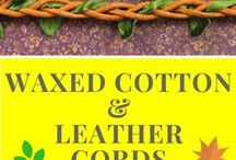Cords For Beading: Waxed, Leather / Cords For Beading: Waxed, Leather