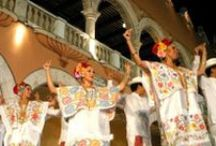 """Traditional dance and music in Merida / Popular with tourists and locals alike is Yucatecan """"Jarana"""", a traditional form of dance accompanied by live music."""