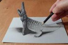 """3D art (i nie tylko) - OŁÓWEK / Małe i większe dzieła sztuki """"dotknięte"""" ołówkiem."""